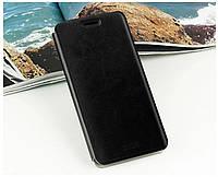 Кожаный чехол книжка Mofi для Samsung Galaxy E5 E500H/DS чёрный, фото 1