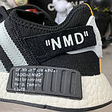 Off-White x Adidas Nmd Nasty Black, фото 7