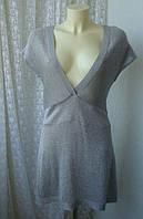 Платье туника женская легкий трикотаж люрекс акрил бренд Bloom р.46