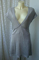 Платье туника женская легкий трикотаж люрекс акрил бренд Bloom р.46, фото 1