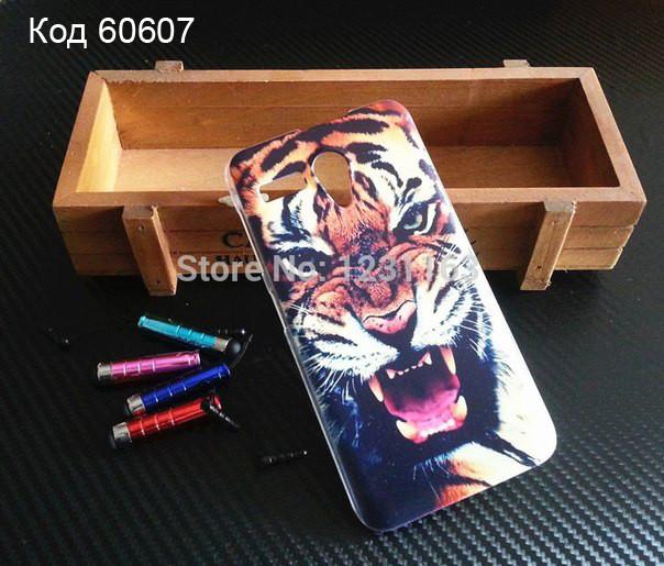 Чохол на Lenovo A606 оригінальна панель накладка з малюнком оскал тигра