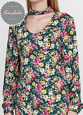 Женское легкое нежное  платье  с чокером в цветочный принт, фото 3