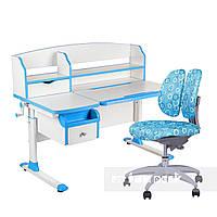 Комплект парта для подростка Sognare Blue + детское ортопедическое кресло SST9 Blue FunDesk, фото 1