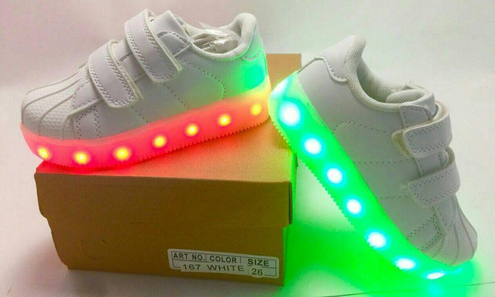 4930e870 ❗Последняя пара❗!! 36р - 23,5см Светящиеся кроссовки LED superstar ...