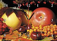 """Часы настенные кухонные """"Натюрморт с ягодами"""" из стекла"""