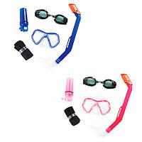 Набор для плавания маска+трубка+очки Bestway 24031