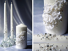 """Свадебные свечи """"Семейный очаг"""" в фиолетовом цвете, фото 4"""
