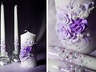 """Свадебные свечи """"Семейный очаг"""" в фиолетовом цвете, фото 5"""