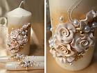 """Свадебные свечи """"Семейный очаг"""" в фиолетовом цвете, фото 6"""