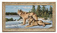 """Картина-гобелен """"Волки на снегу"""" 80х40 см"""