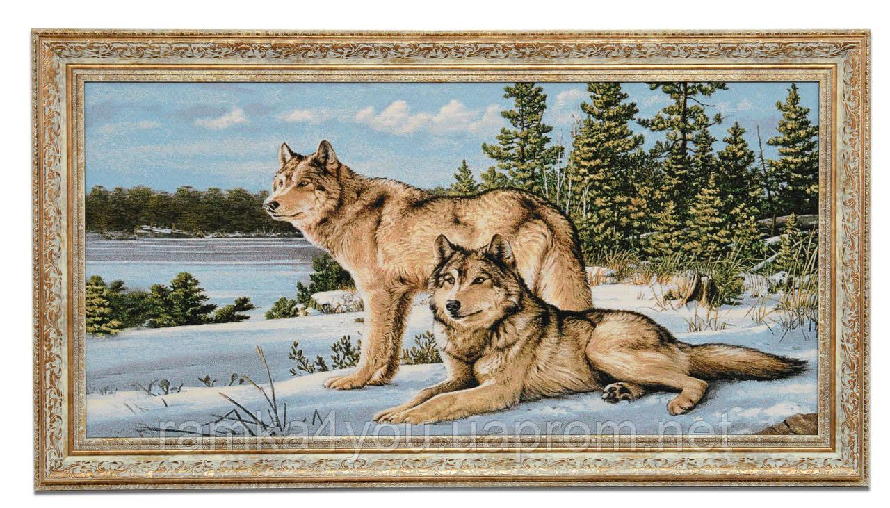 "Картина-гобелен ""Волки на снегу"" 80х40 см - интернет-магазин ""Рамка для Вас"" в Одессе"