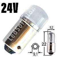 Лампа LED 24V T4W (BA9s) 2smd 2835 Philips ЗЕЛЕНЫЙ