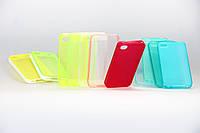 Чехол из высококачественного прозрачного силикона для Iphone 4/4S салатовый