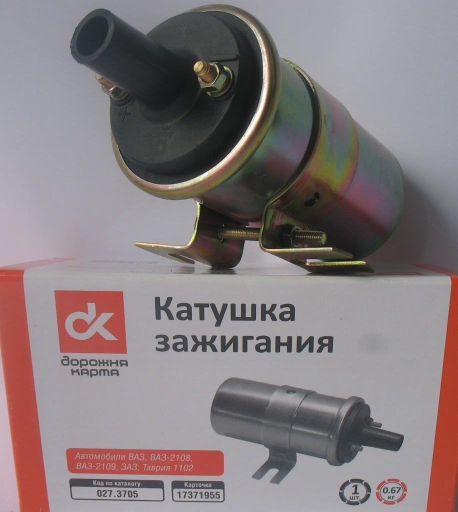 Катушка запалювання ВАЗ 2108, 2109, Таврия (пр-во ДК)