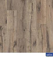 Ламінована підлога, Quick-Step, Eligna Wide, Реставрований сірий дуб, UW1545
