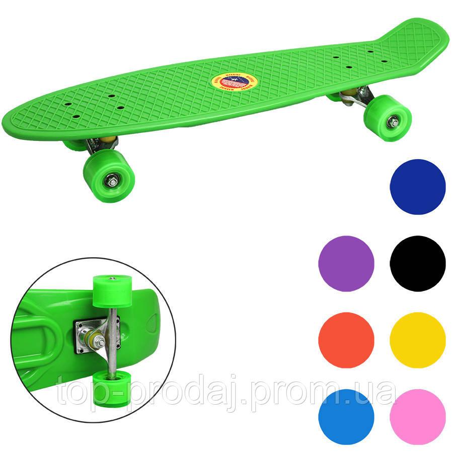 Скейт BT-YSB-0057 пластик.PVC колеса 68*19см, Детский скейт, Пенни борд, Скейтборд для ребенка