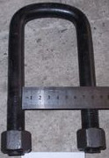 Стремянка рессоры передней ЗИЛ М20х1,5 (с гайкой и гровером L=175)