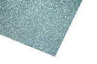 Фоамиран блестящий/глиттерный на клейкой основе (разные цвета) 2мм/20х30см:Серебряный