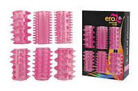 Набор силиконовых насадок на член с разным рельефом EROMAN 6 шт