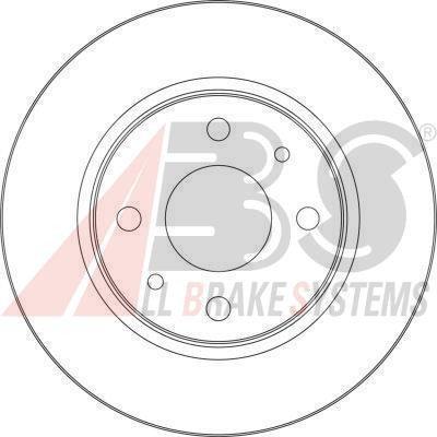 Диск тормозной ВАЗ 2110 передний вентилируемый R 13 вент. (пр-во ABS)