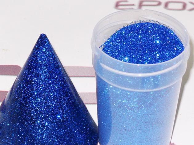 Фото блесток синего цвета для эпоксидной смолы