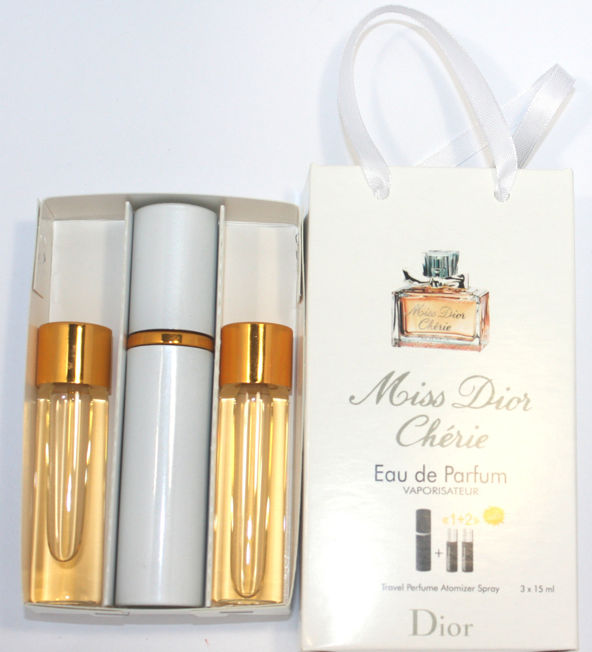 Christian Dior Miss Dior Cherie edt 3x15ml - Trio Bag