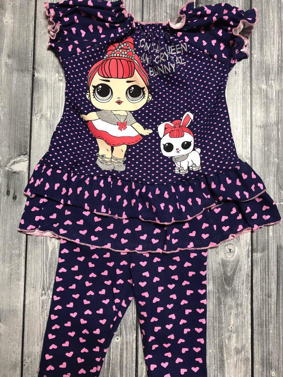 Дитячий літній костюм на дівчинку Lol (лялька лол )