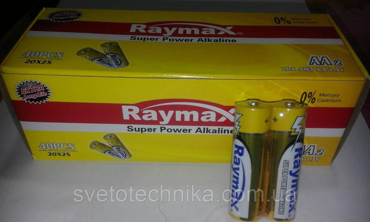 Алкалиновая батарейка (40шт.) Raymax LR6 UM4 AA 1.5V Super Power Alkaline