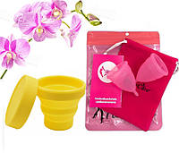 Менструальные чаши S, L с контейнером для стерилизации