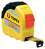 "Рулетка Topex 27C305, ""Shiftlock"" стальная лента, 5 м, ширина полотна 19 мм"