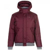 Куртка Lee Cooper Ribbed Padded Jacket Mens Burgundy - Оригинал