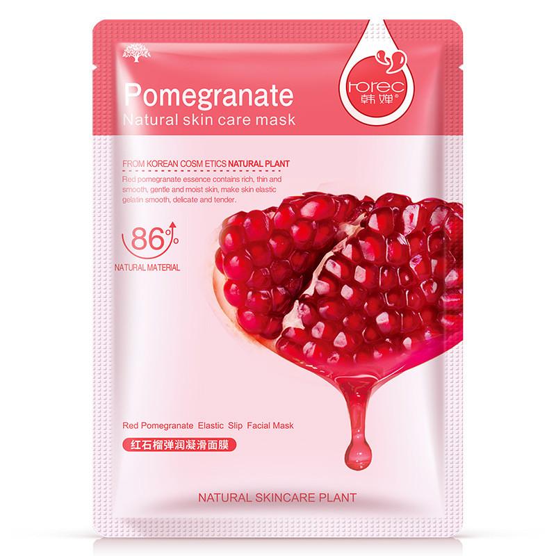 Маска-салфетка для лица с гранатом выравнивающая Rorec Pomegranate Natural Skin Care Mask (30г)