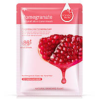 Маска-салфетка для лица с гранатом выравнивающая Rorec Pomegranate Natural Skin Care Mask (30г), фото 1