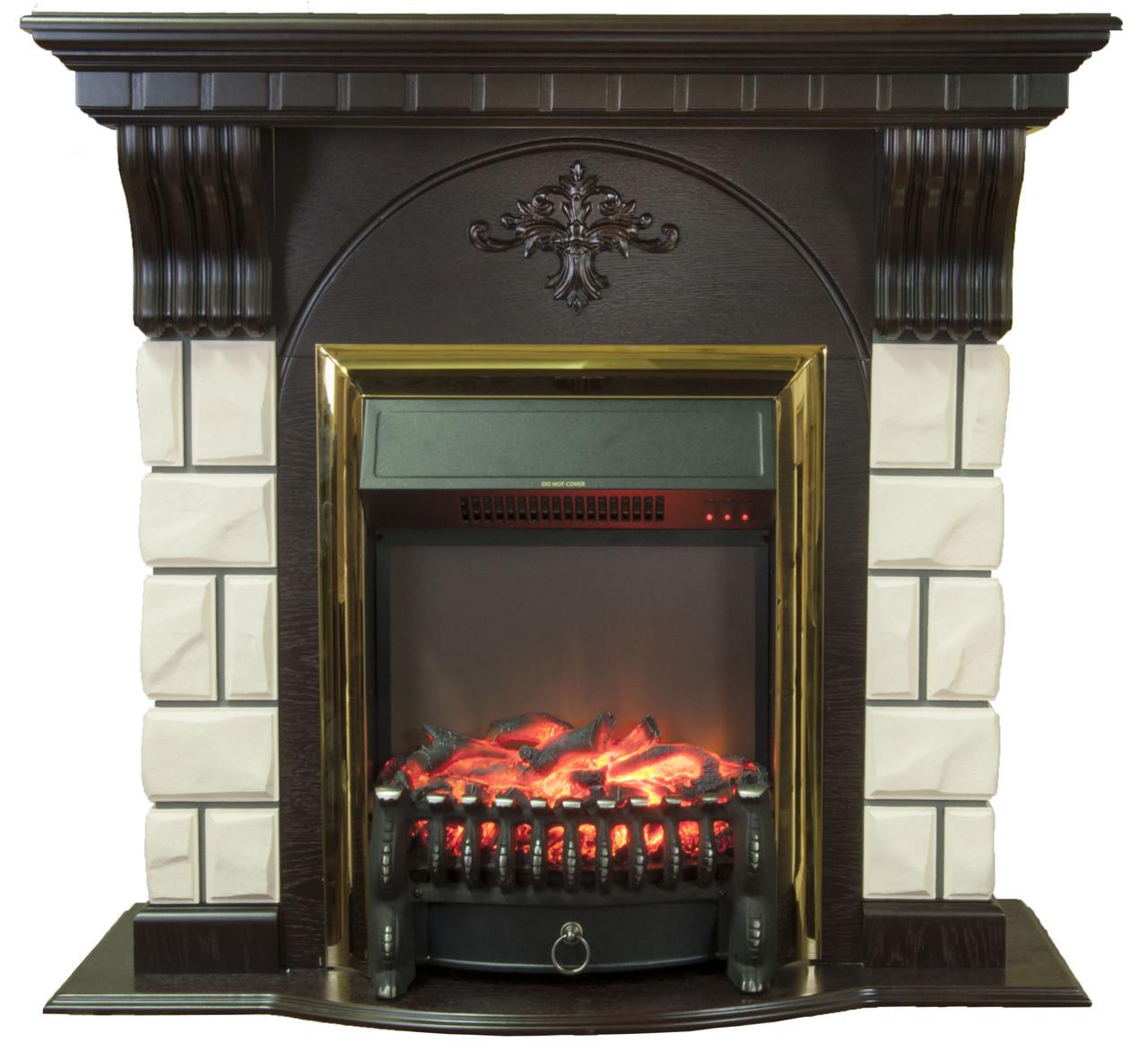 Электрический каминокомплект из МДФ Fireplace Рим эффект пламени прогоревших дров со звуком