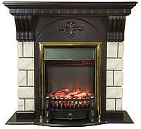 Камінокомплект Fireplace Тайбей Білий + Венге 2D технологія полум'я з обігрівом зі звуком