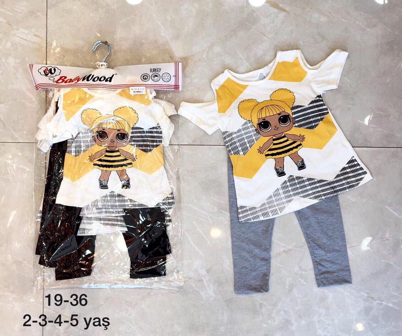Літній костюм для дівчинки 2-5років