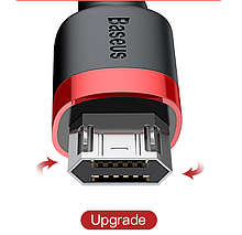 Micro-USB двухсторонний Baseus кабель Micro USB для Samsung Реверсивный Micro USB Reversible