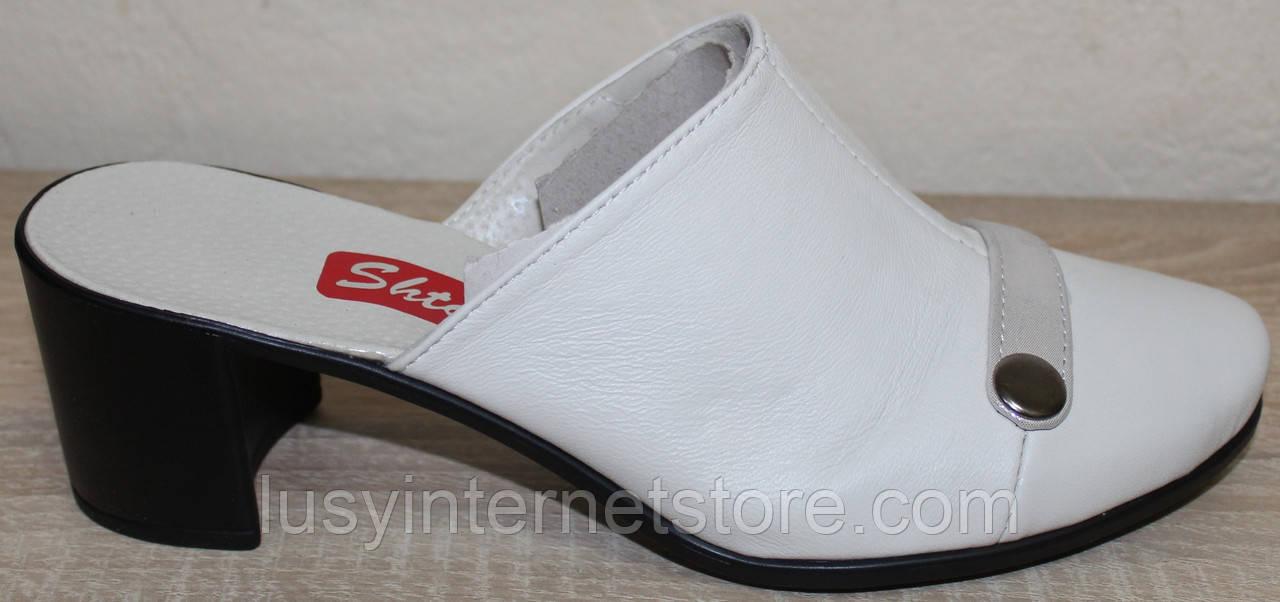 c3c49133d Сабо закрытые кожаные на каблуке от производителя модель СТЛ10К ...