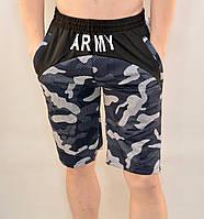 Шорты мужские трикотажные - камуфляж Бриджи камуфляжные Army Синий, L