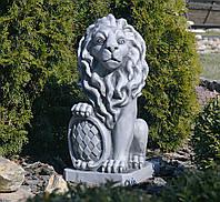 Садовая скульптура Лев 35.5x28.5x62.5 cм SS12149-16 цвет серый., фото 1
