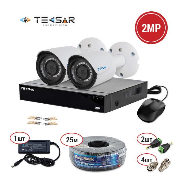 Комплект видеонаблюдения Tecsar AHD 2 out KIT