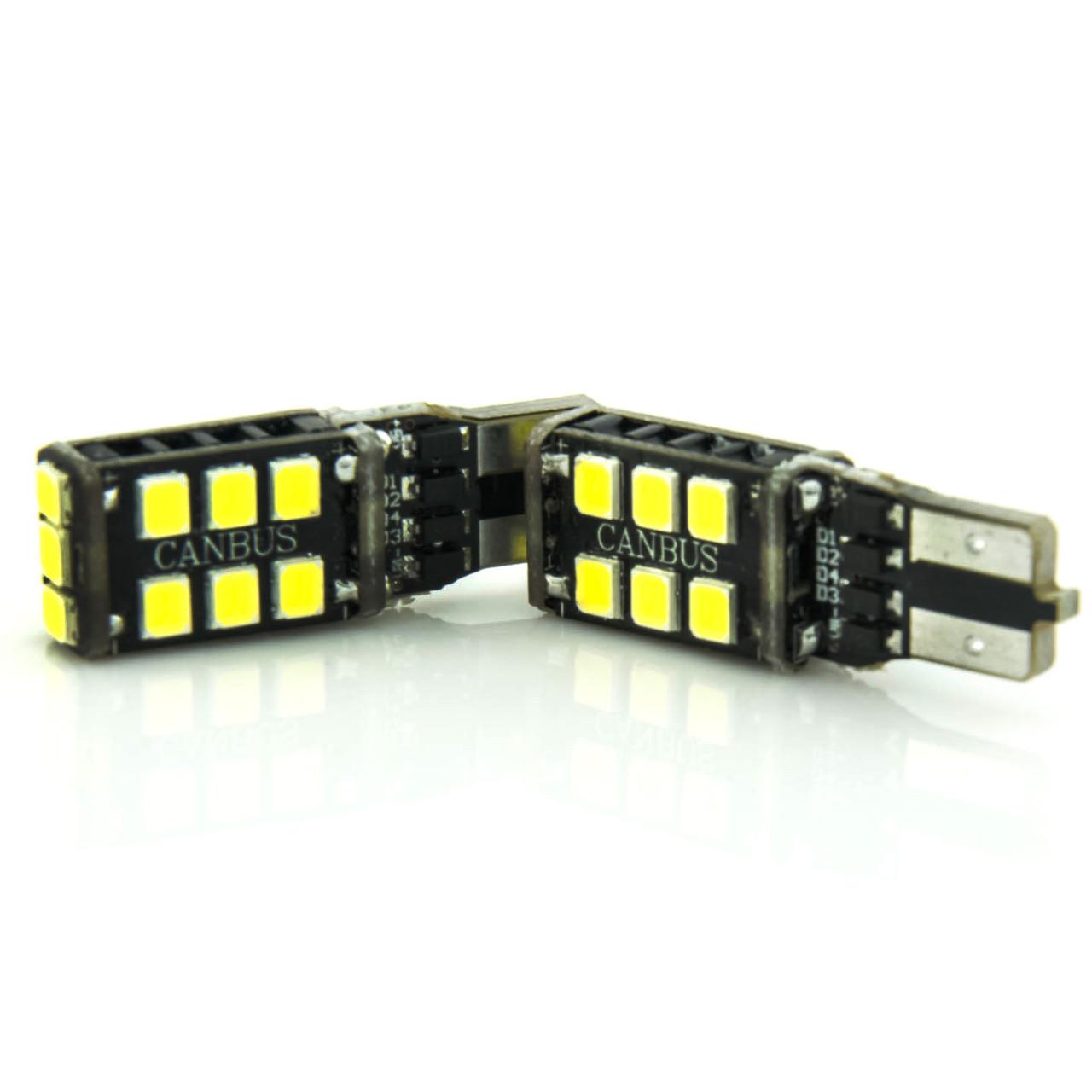 Лампа LED 12V T10 (W5W) 15SMD 2835 ОБМАНКА 500Lm БЕЛЫЙ