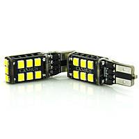 Лампа LED 12V T10 (W5W) 15SMD 2835 ОБМАНКА 500Lm БЕЛЫЙ, фото 1