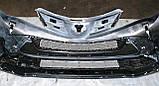 Декоративно-защитная сетка радиатора Toyota RAV4 2013- бампер, фото 3
