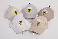 Летняя кепка для мальчика с вышивкой  Ferrari