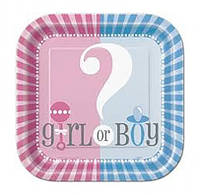 Тарелки BOY or GIRL? 10шт/уп 47384