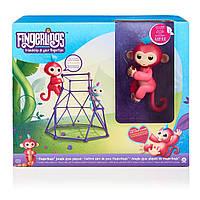 Интерактивная обезьянка с площадкой WowWee Fingerlings Aimee Baby Monkey Interactive Jungle Gym Playset