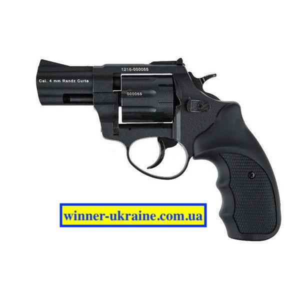 Револьвер под патрон Флобера Stalker 2,5 (барабан-силумин) черная и коричневая ручка