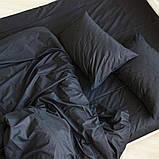 """Комплект евро постельного белья ТМ """"Ловец снов"""", Однотонный черный, фото 3"""