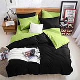 """Комплект двуспальный постельного белья ТМ """"Ловец снов"""", Однотонный черный, фото 6"""